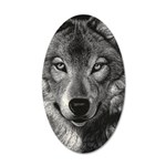 Wolf Sketch 20x12 Oval Wall Decal