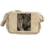 Wolf Sketch Messenger Bag