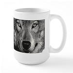Wolf Sketch Large Mugs