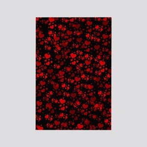red hearts Rectangle Magnet