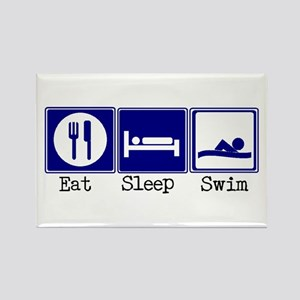 Eat, Sleep, Swim Rectangle Magnet