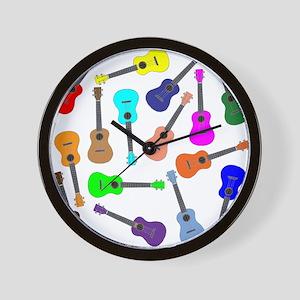 Rainbow Ukuleles Wall Clock