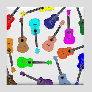 Rainbow Ukuleles Tile Coaster