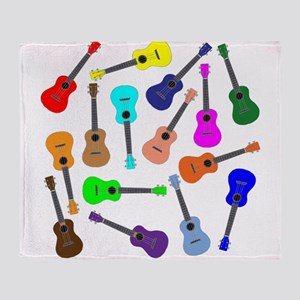 Rainbow Ukuleles Throw Blanket