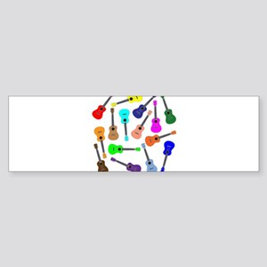 Rainbow Ukuleles Bumper Sticker
