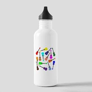Rainbow Ukuleles Water Bottle