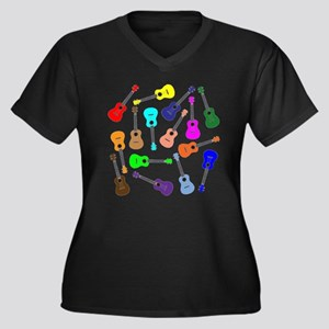 Rainbow Ukuleles Plus Size T-Shirt