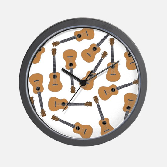 Ukuleles Ukes Wall Clock