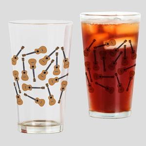 Ukuleles Ukes Drinking Glass