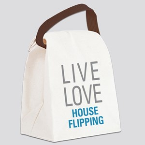 House Flipping Canvas Lunch Bag