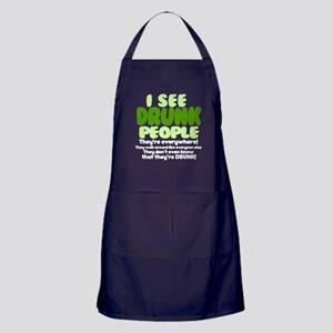 I See Drunk People Original Apron (dark)