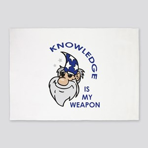 Knowledge Is My Weapon 5'x7'Area Rug