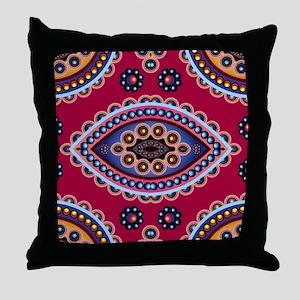 .Paisley Throw Pillow