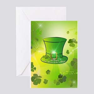 St. Patrick's Day, green hat Greeting Cards