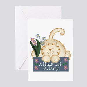 ATTACK CAT Greeting Cards (Pk of 10)