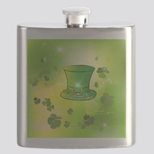 St. Patrick's Day, green hat Flask