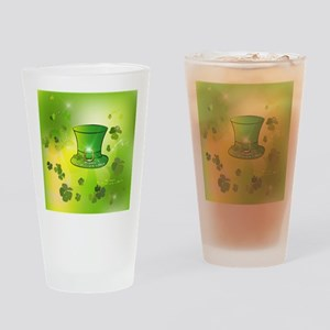 St. Patrick's Day, green hat Drinking Glass
