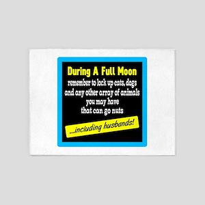 Full Moon Reminder 5'x7'Area Rug