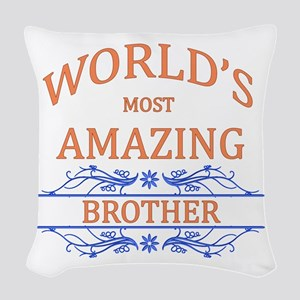 Brother Woven Throw Pillow