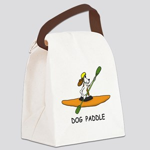 DOG PADDLE Canvas Lunch Bag