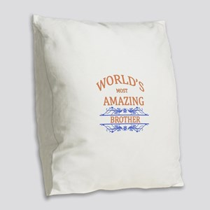 Brother Burlap Throw Pillow