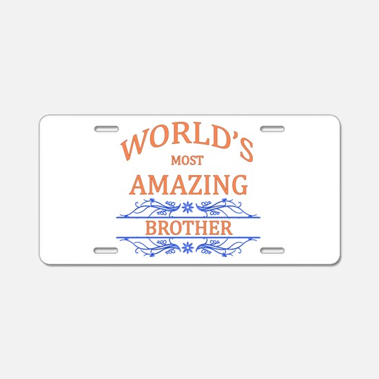 Brother Aluminum License Plate