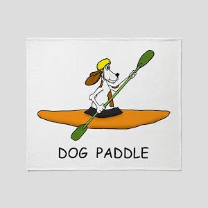 DOG PADDLE Throw Blanket