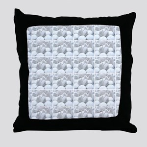 white pills drugs photo Throw Pillow