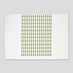 alcohol champagne bottles 5'x7'Area Rug