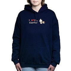 I Love Garlic Women's Hooded Sweatshirt