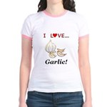I Love Garlic Jr. Ringer T-Shirt