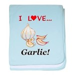 I Love Garlic baby blanket