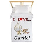 I Love Garlic Twin Duvet
