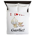 I Love Garlic Queen Duvet