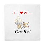 I Love Garlic Queen Duvet