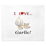 I Love Garlic King Duvet