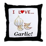 I Love Garlic Throw Pillow