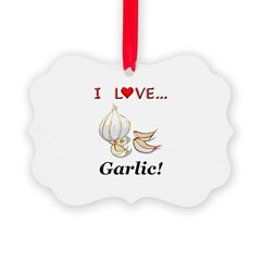 I Love Garlic Ornament