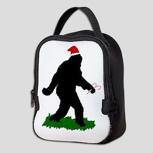 Christmas Squatchin Neoprene Lunch Bag