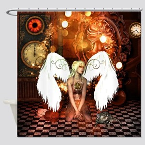 The beautiful steampunk angel Shower Curtain