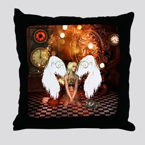 The beautiful steampunk angel Throw Pillow