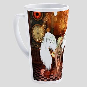 The beautiful steampunk angel 17 oz Latte Mug