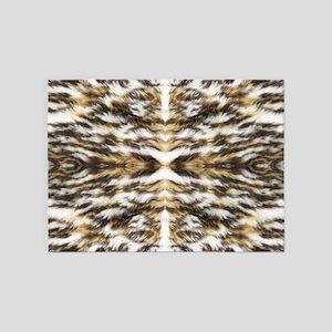 leopard fur ocelot cheetah 5'x7'Area Rug