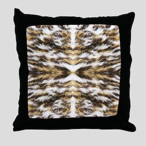 leopard fur ocelot cheetah Throw Pillow
