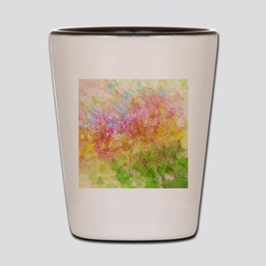 Soft Floral Abstract Design Shot Glass