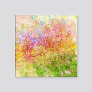 """Soft Floral Abstract Design Square Sticker 3"""" x 3"""""""