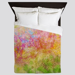 Soft Floral Abstract Design Queen Duvet