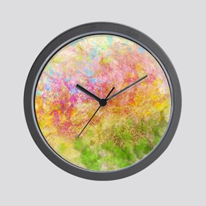 Soft Floral Abstract Design Wall Clock