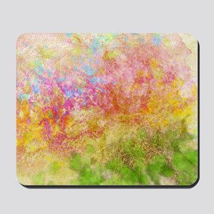 Soft Floral Abstract Design Mousepad
