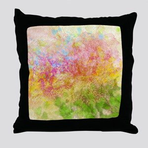 Soft Floral Abstract Design Throw Pillow